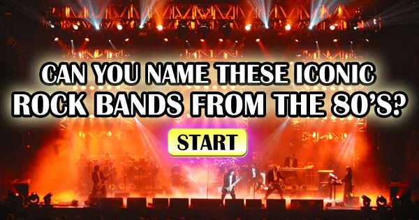 Can You Name These Iconic Rock Bands From The 80's?
