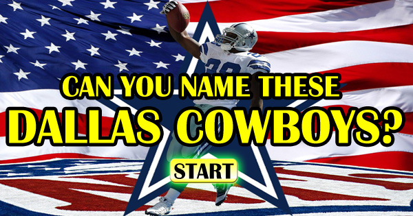 Can You Name These 10 Dallas Cowboys?