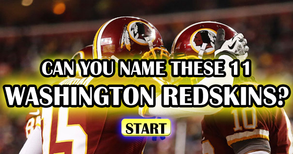 Can You Name These 11 Washington Redskins?