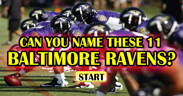 Can You Name These 11 Baltimore Ravens?