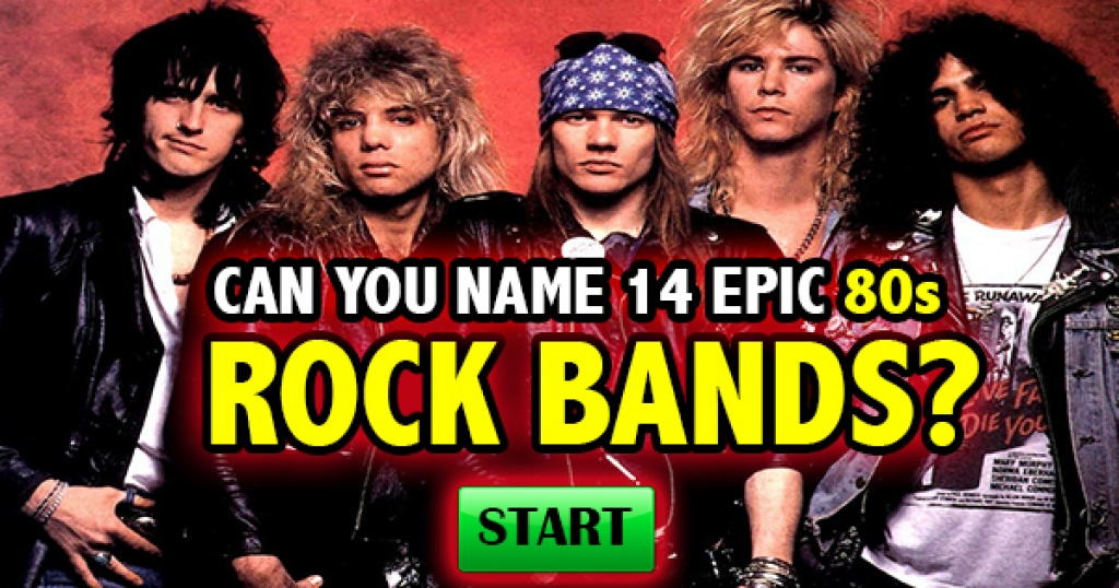 Can You Name 14 Epic 80s Rock Bands?