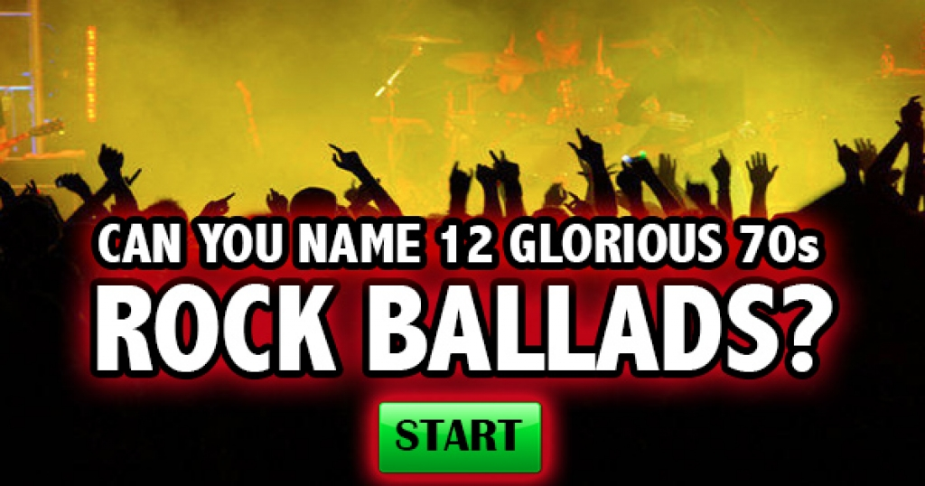 Can You Name 12 Glorious 70s Rock Ballads?