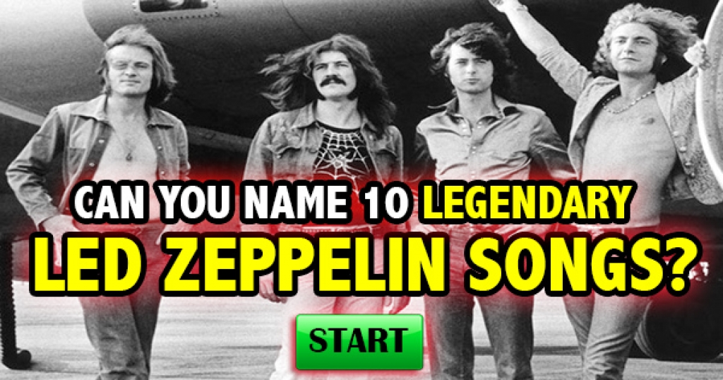 Can You Name 10 Legendary Led Zeppelin Songs?