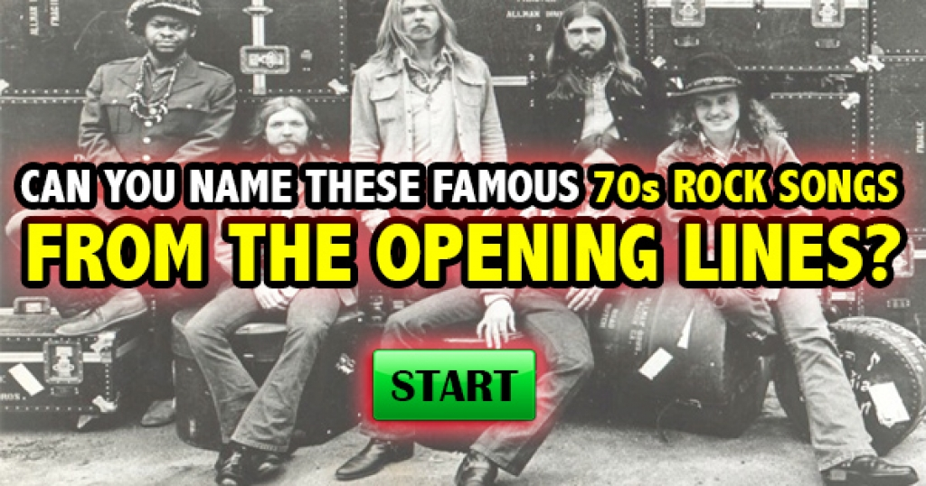 Can You Name These Famous 70s Rock Songs From The Opening Lyrics?