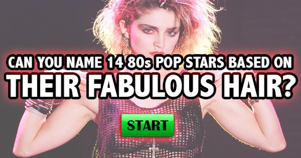 Can You Name 14 80s Pop Stars Based On Their Fabulous Hair?