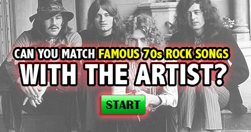 Can You Match Famous 70s Rock Songs With The Artist?