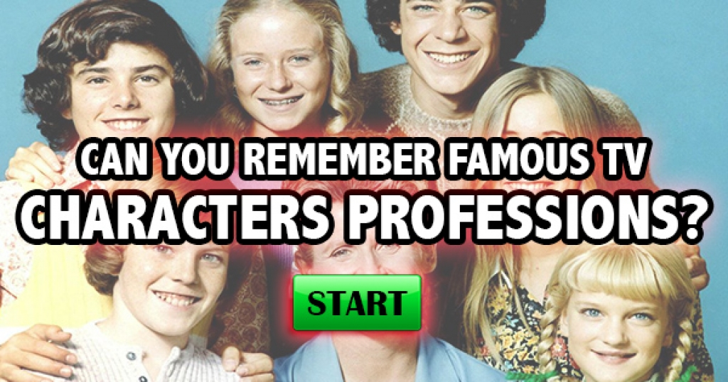 Can You Remember Famous TV Character Professions?