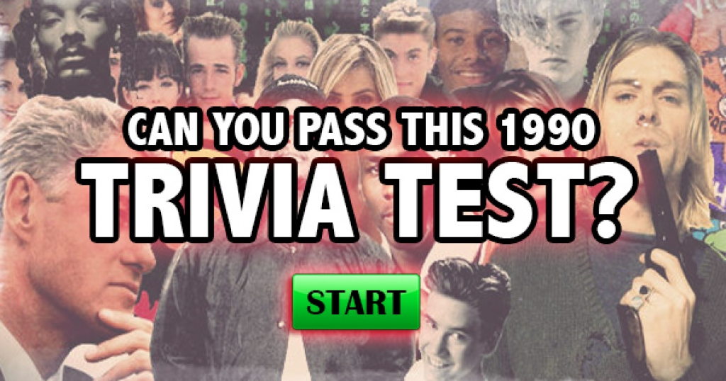 Can You Pass This 1990 Trivia Test?