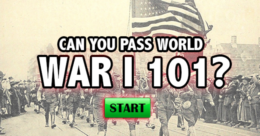Can You Pass World War I 101?