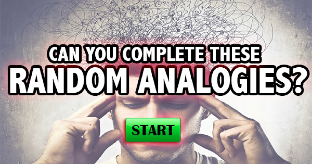 Can You Complete These Random Analogies?