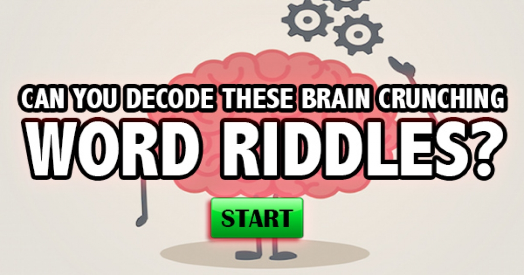 Can You Decode These Brain Crunching Word Riddles?