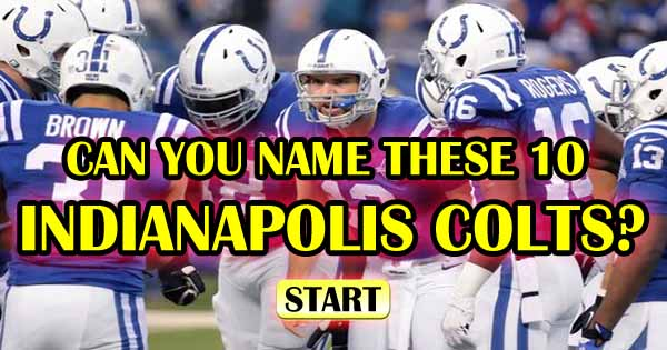 Can You Name These 10 Indianapolis Colts?