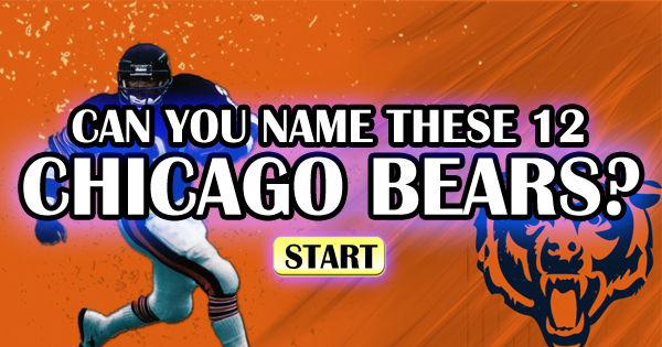 Can You Name These 12 Chicago Bears?
