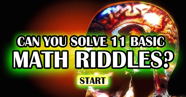 Can You Solve 11 Basic Math Riddles?