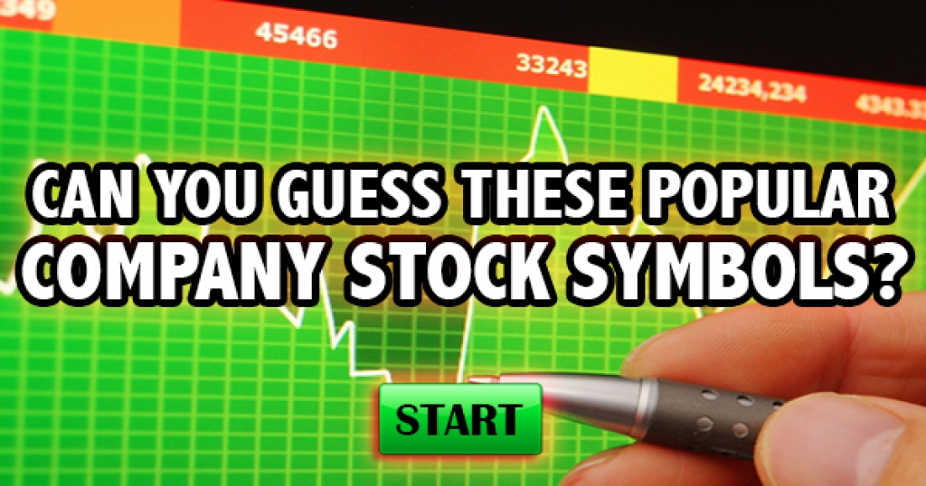 Can You Guess These Popular Company Stock Symbols?
