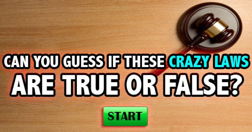 Can You Guess If These Weird Laws Are True Or False?