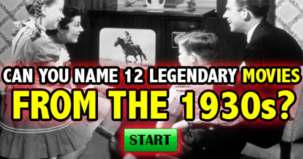 Can You Name 12 Legendary Movies From The 1930s?