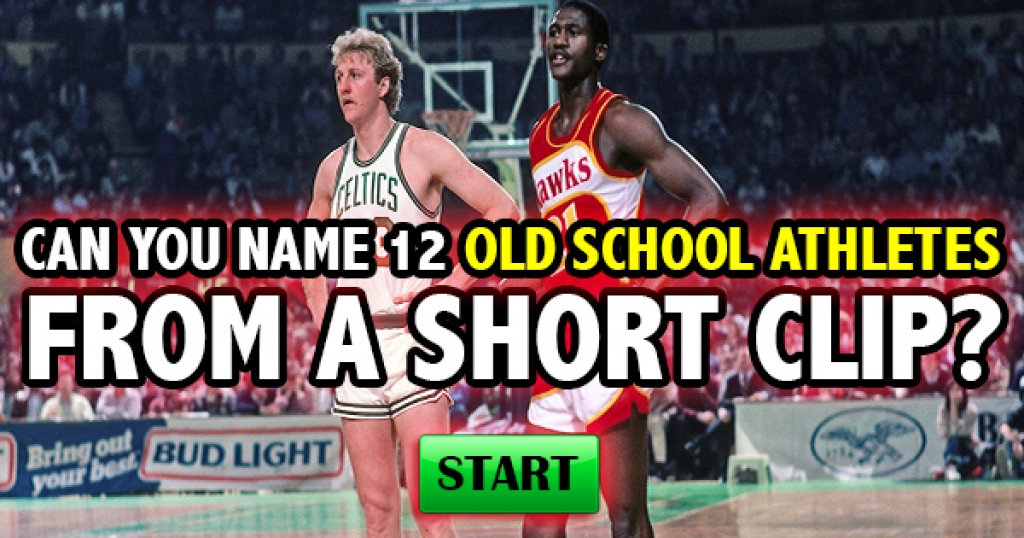 Can You Name 12 Old School Athletes From A Short Clip?