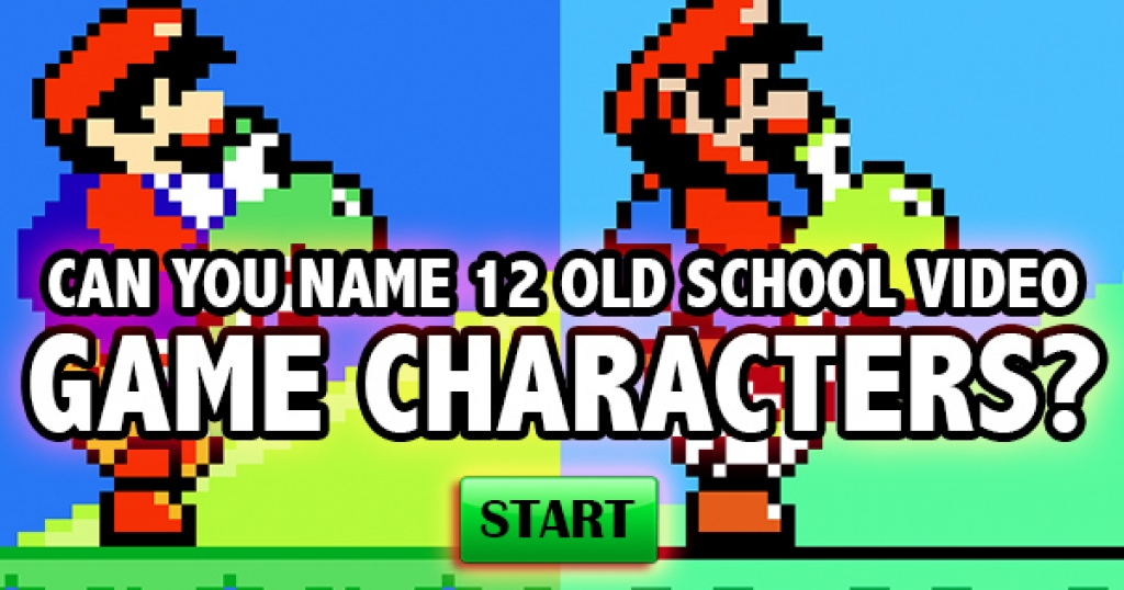 Can You Name 12 Old School Video Game Characters?