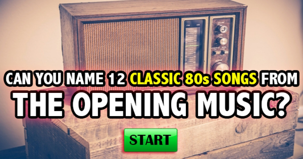 Can You Name 12 Classic 80s Songs From The Opening Music?