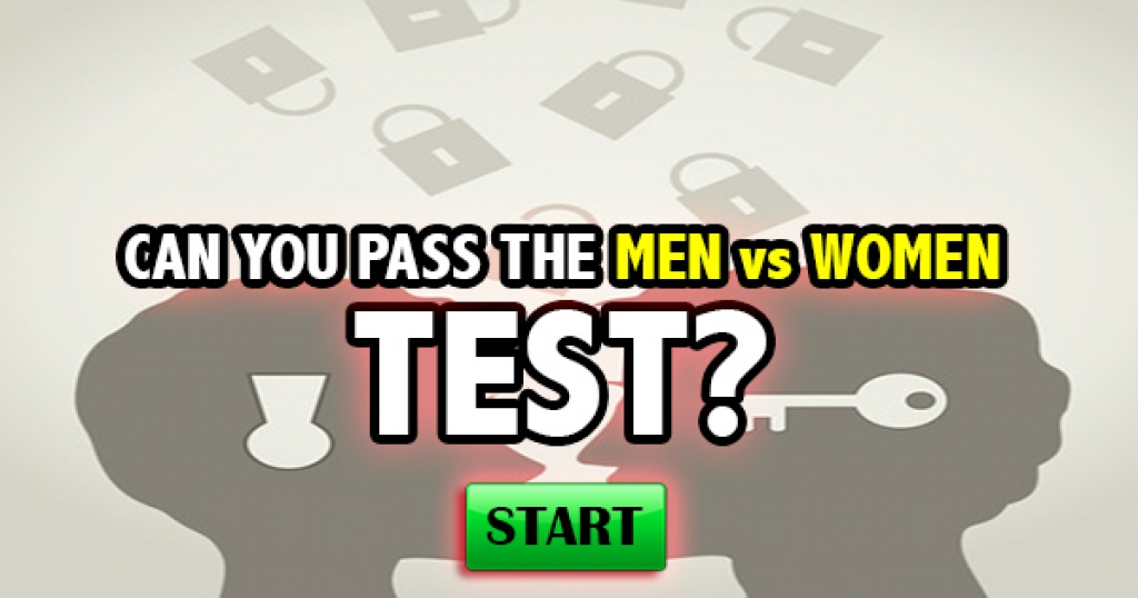 Can You Pass The Men vs. Women Test?