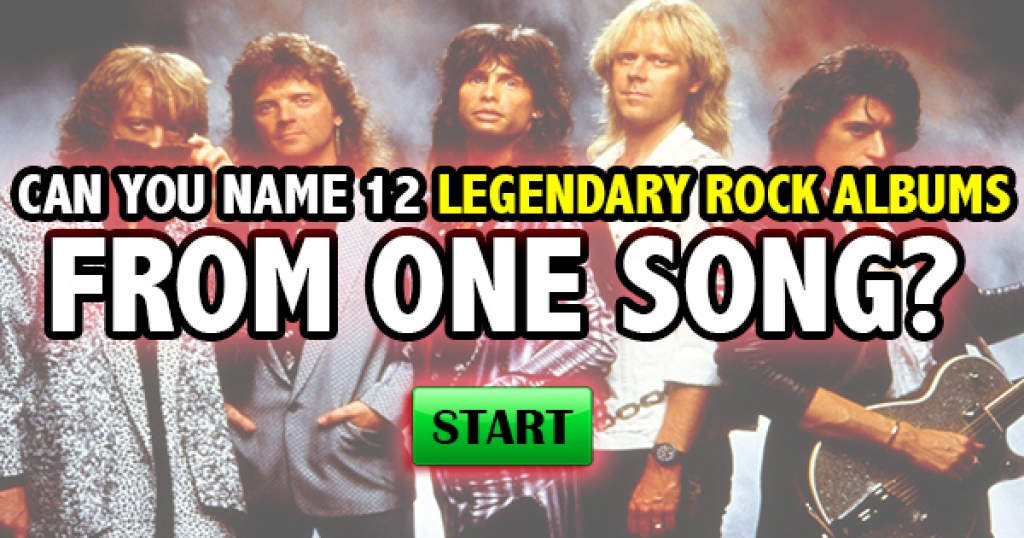 Can You Name 12 Legendary Rock Albums From One Song?