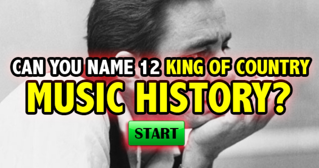 Can You Name 12 Kings Of Country Music History?