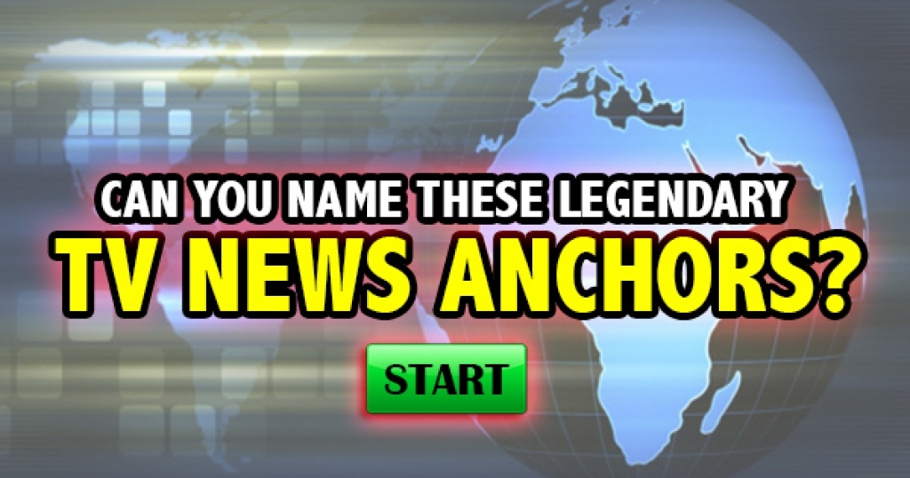 Can You Name These Legendary TV News Anchors?