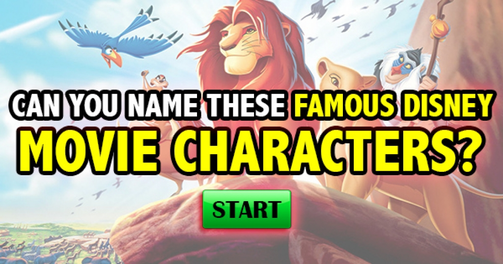 Can You Name These Famous Disney Movie Characters?
