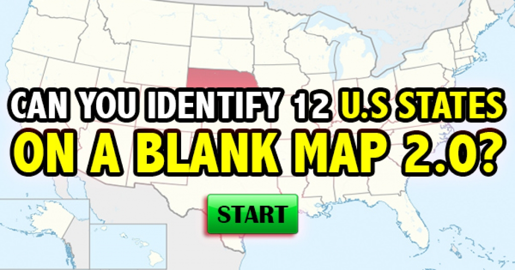 Can You Identify 12 U.S. States on a Blank Map 2.0?