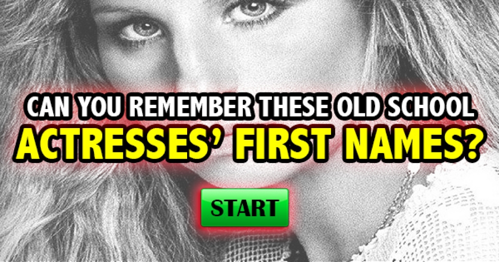 Can You Remember These Old School Actresses' First Names?