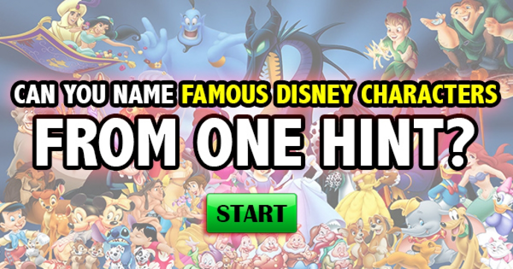 Can You Name These Famous Disney Characters From A Hint?
