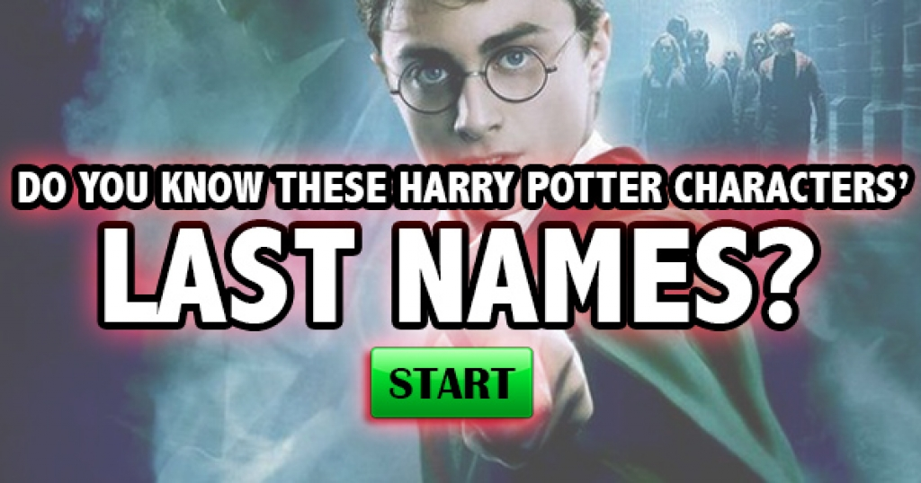 Do You Know These Harry Potter Characters' Last Names?