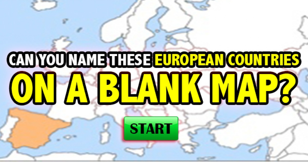 Can You Name These European Countries On A Blank Map?
