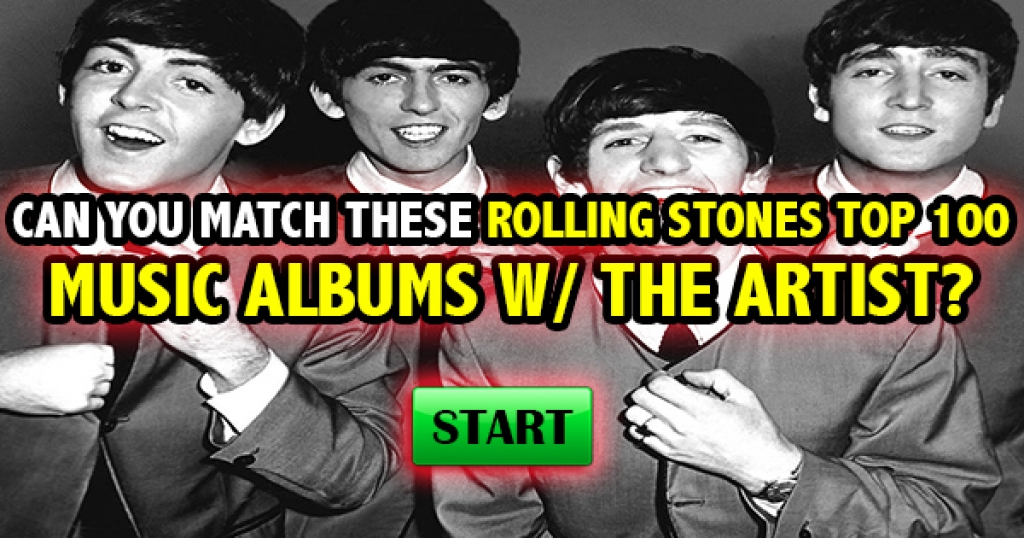 Can You Match These Rolling Stones Top 100 Music Albums With The Artist?
