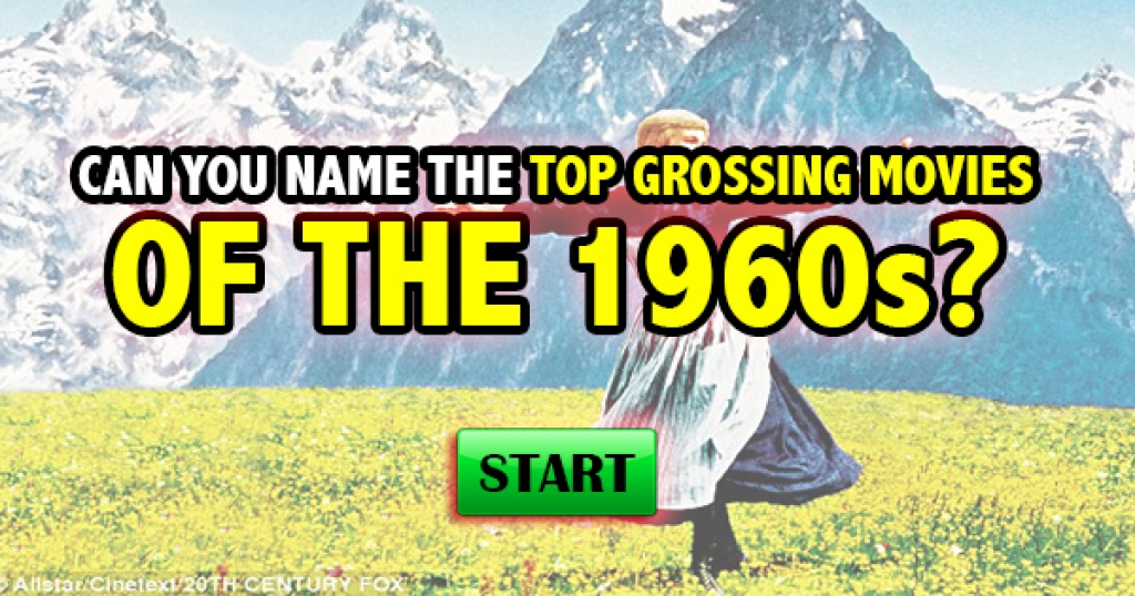 Can You Name The Top Grossing Movies of the 1960s?