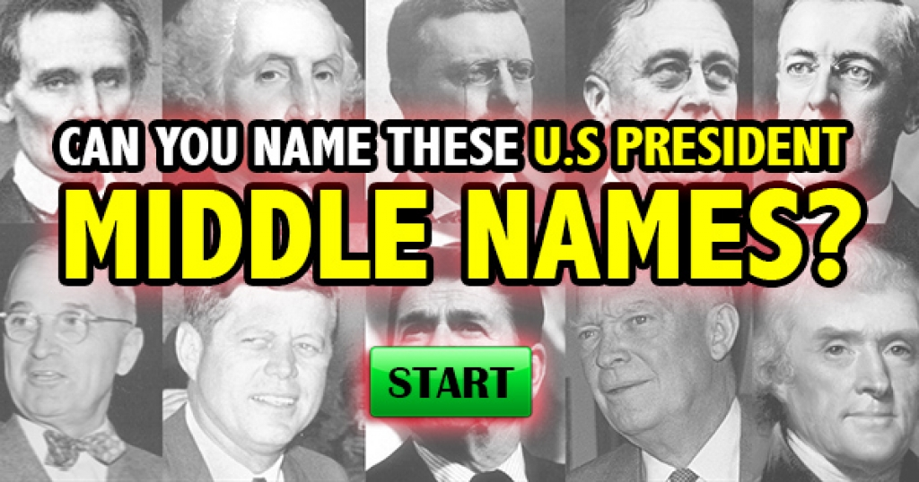 Can You Name These U.S. President Middle Names?