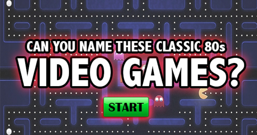 Can You Name These Classic 80s Video Games?