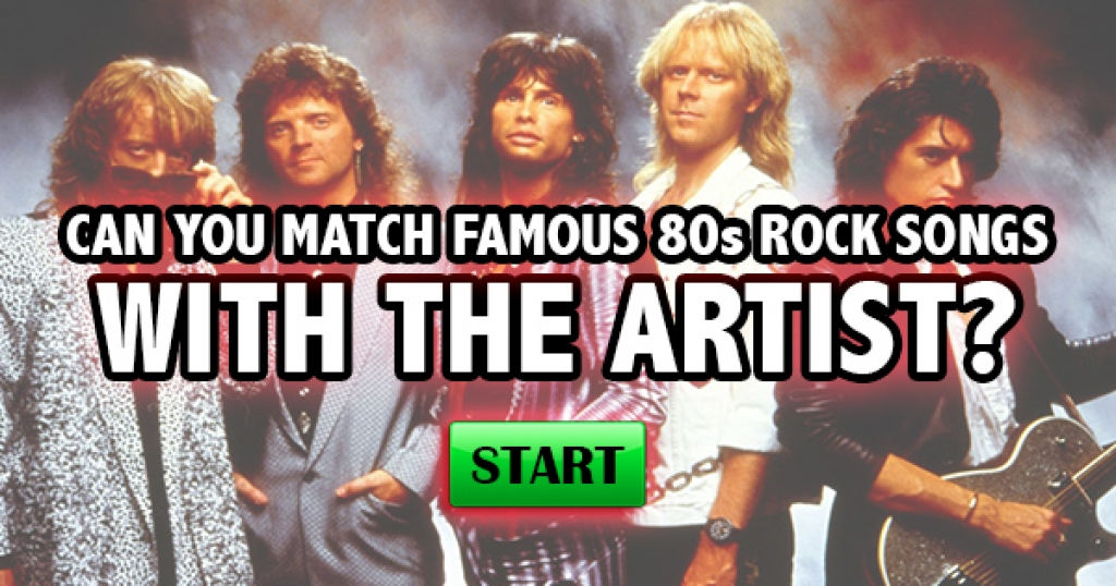 Can You Match Famous 80s Rock Songs With The Artist?