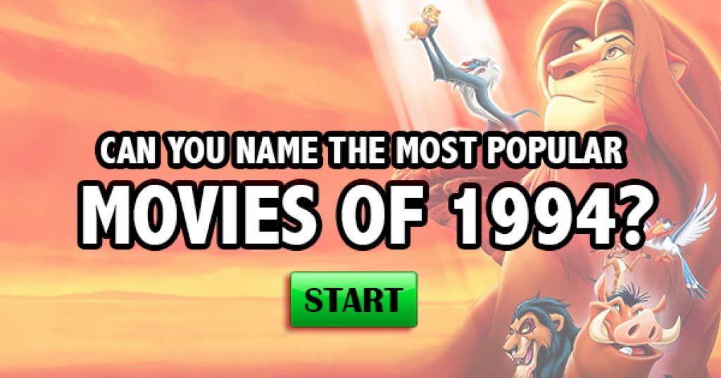 Can You Name The Most Popular Movies of 1994?