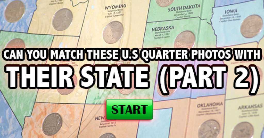 Can You Match These U.S. Quarter Photos With Their State (Part 2)