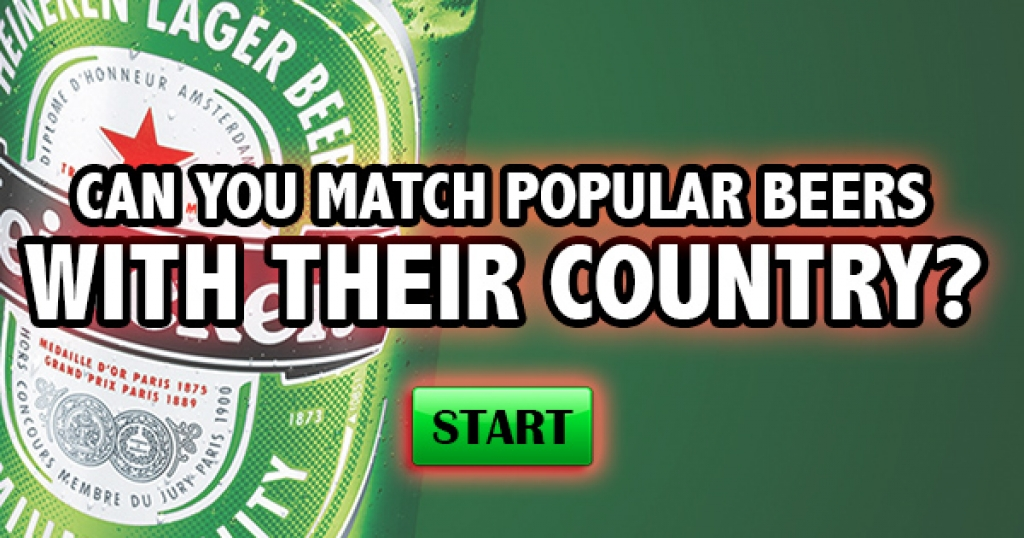 Can You Match Popular Beers With Their Country?