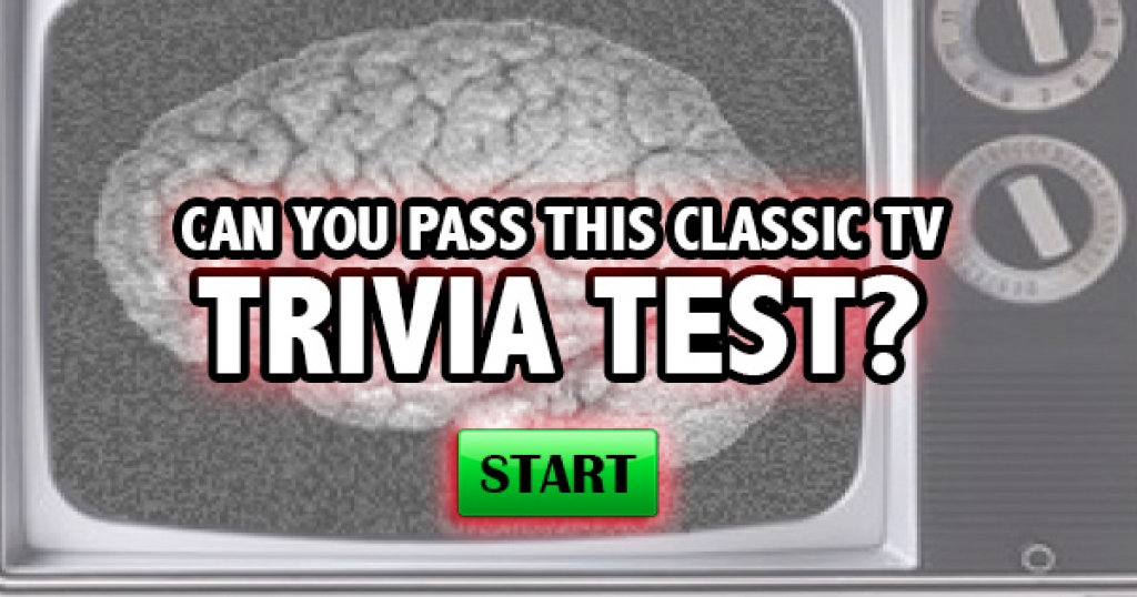 Can You Pass This Classic TV Trivia Test?