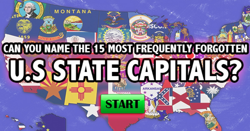 Can You Name The 15 Most Frequently Forgotten US State Capitals?