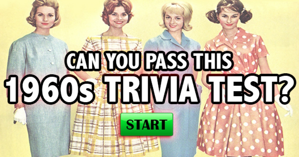Can You Pass This 1960 Trivia Test?