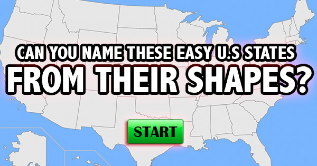 Can You Name These Easy U.S. States from Their Shapes?