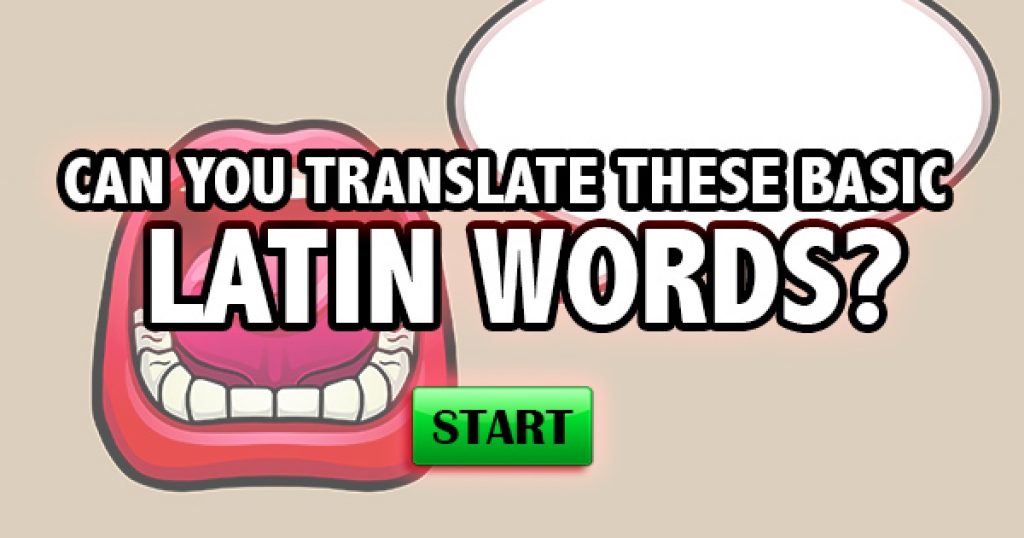 Can You Translate These Basic Latin Words?