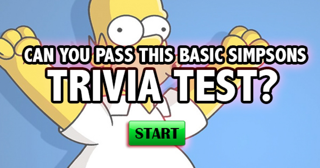 Can You Pass This Basic Simpsons Trivia Test?