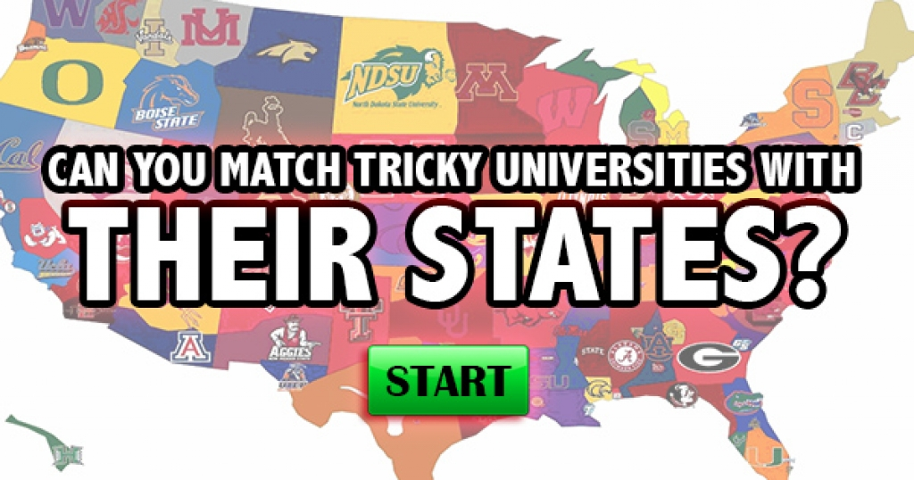 Can You Match Tricky Universities With Their States?
