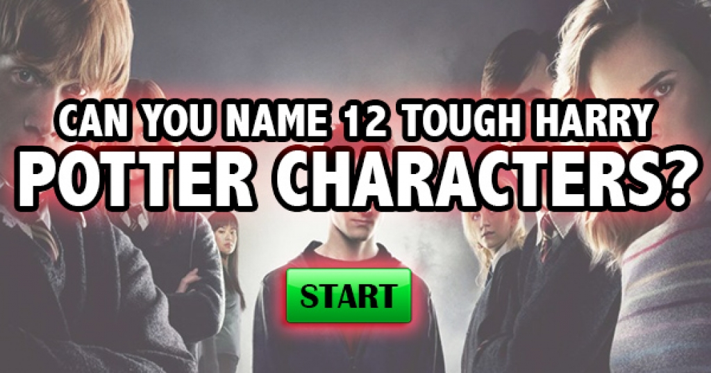 Can You Name 12 Tough Harry Potter Characters?